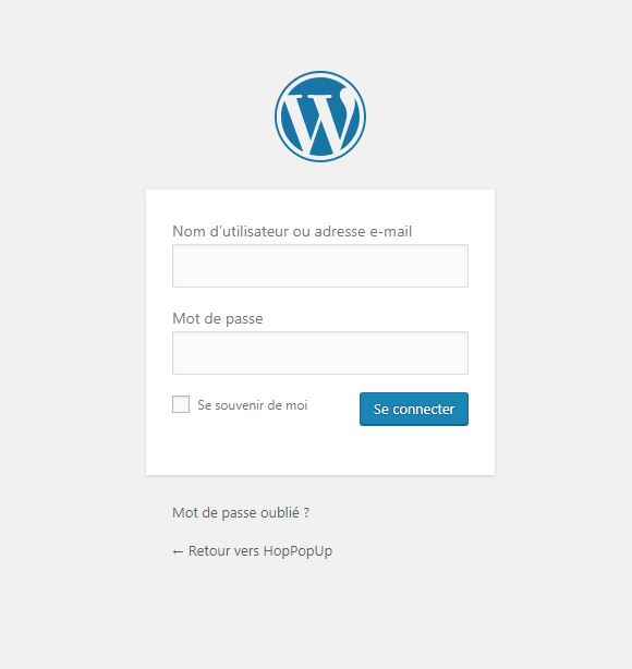 login connexion wordpress